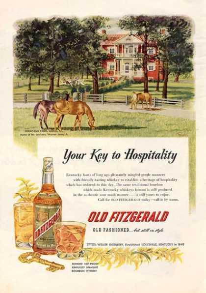 Old Fitzgerald Whiskey Bottle (1952)