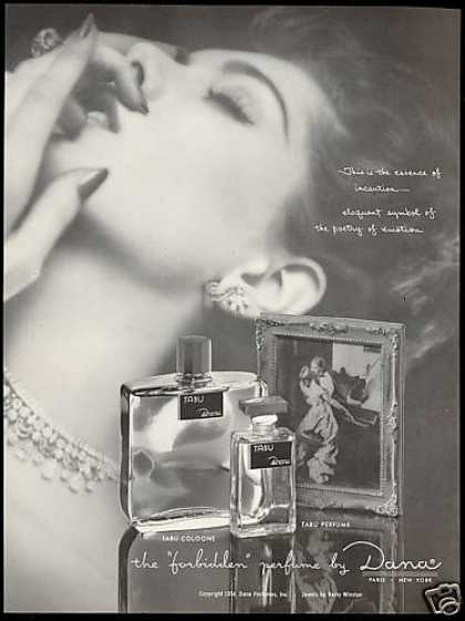 Dana Tabu Perfume Cologne Bottles Woman (1954)