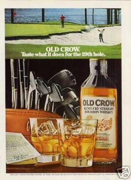 Old Crow Bourbon Whiskey (1973)