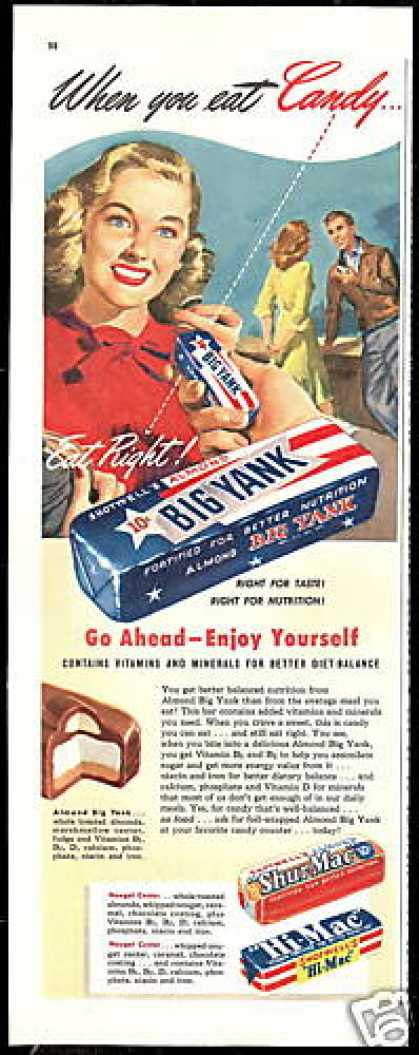 Shotwell's Candy Bar Big Yank Shur Mac Hi Mac (1947)