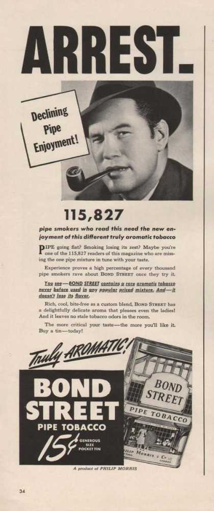 Arrest Bond Street Pipe Tobacco (1941)