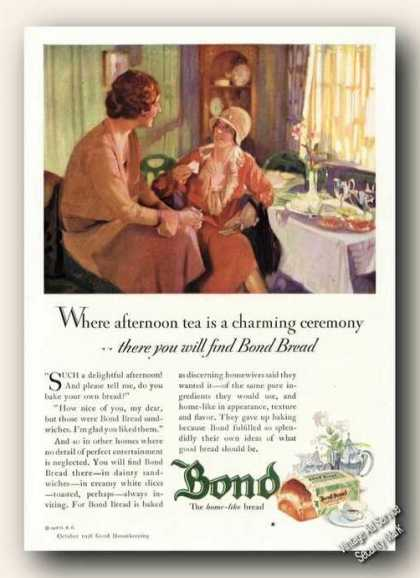 Bond Bread Charming Ceremony Afternoon Tea (1928)