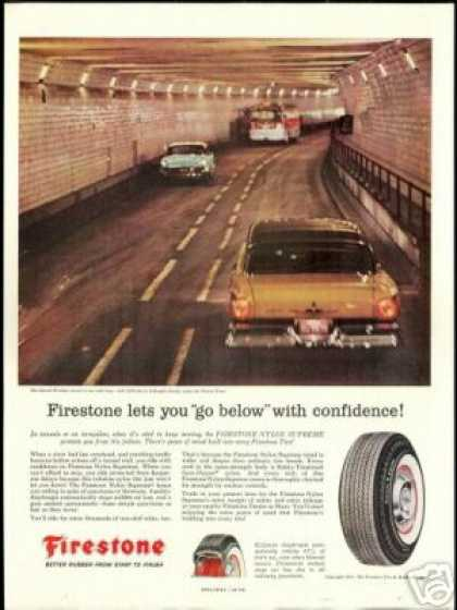 Detroit Windsor Tunnel Vintage Firestone Tire (1957)