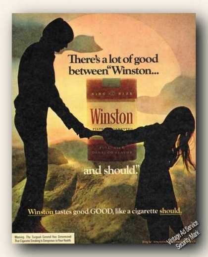 Lot of Good Between Winston & Should Cigarettes (1973)