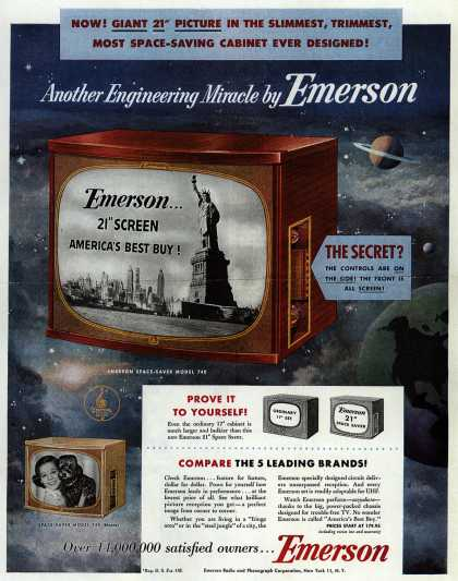 Emerson Radio and Phonograph Corporation's Television – Another Engineering Miracle by Emerson (1953)