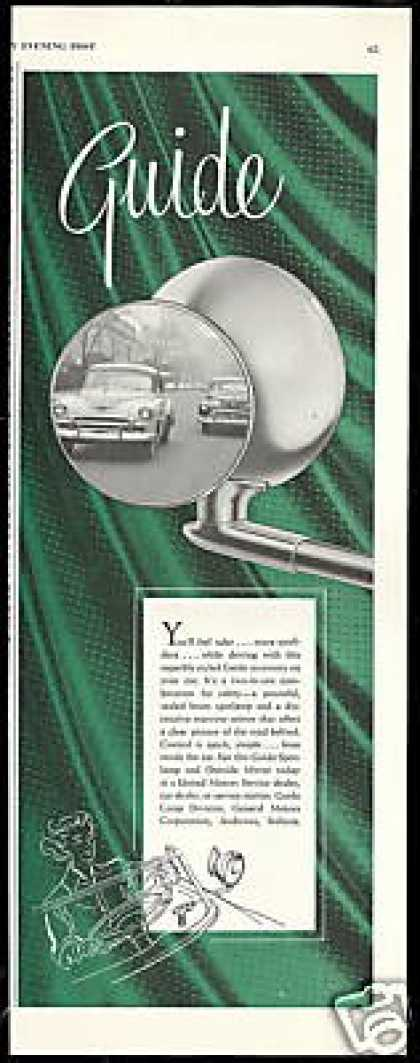 GM Guide Spot Lamp Outside Mirror Vintage Photo (1951)