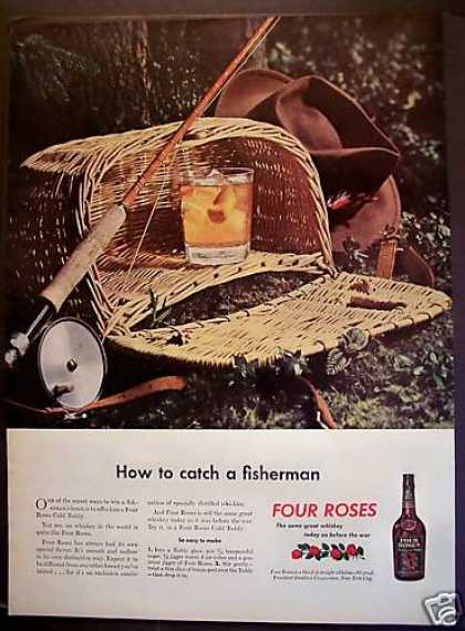 Four Roses Whisky W/ Recipe (1945)