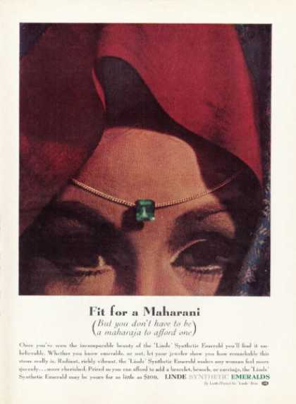 Linde Synthetic Emerald Maharani (1961)