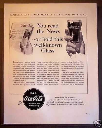 Coca-cola Soda Soft Drink Coke (1940)