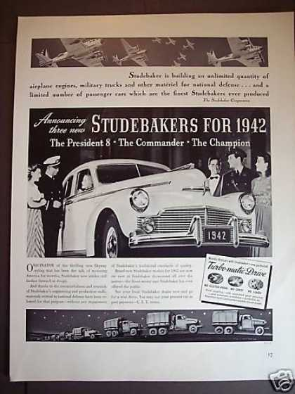 Studebaker for 1942 President 8 Turbo-matic Car (1941)