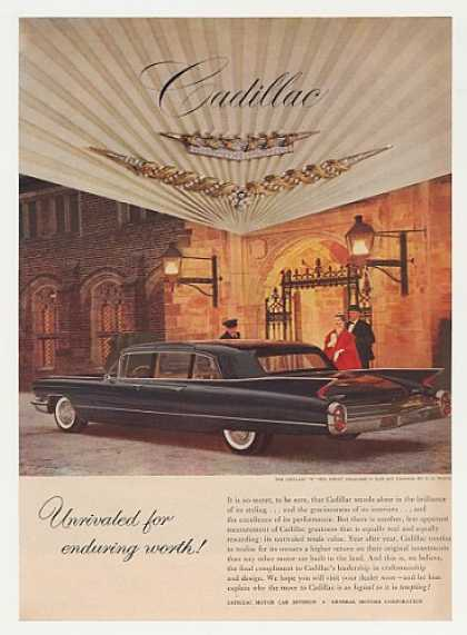 Black Cadillac 4-Door Gold Diamonds Crest Photo (1960)
