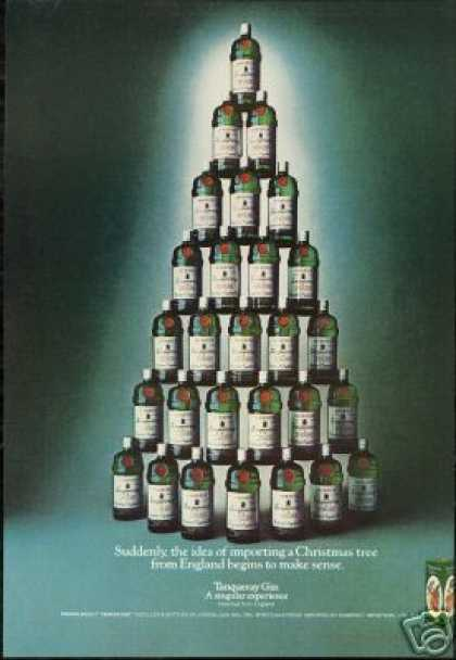Great English Christmas Tree Tanqueray Gin (1976)