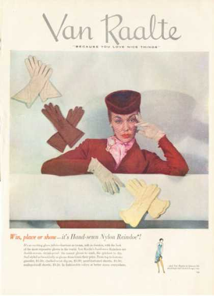 Van Raalte Gloves Fashion Hat Clothes (1950)