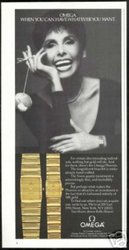 Lena Horne Photo Omega Phoenix Watch Vintage (1984)