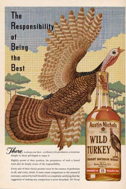 Wild Turkey Whiskey Turkey Color (1965)
