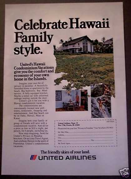 United Airlines Hawaii Travel Vacation (1975)