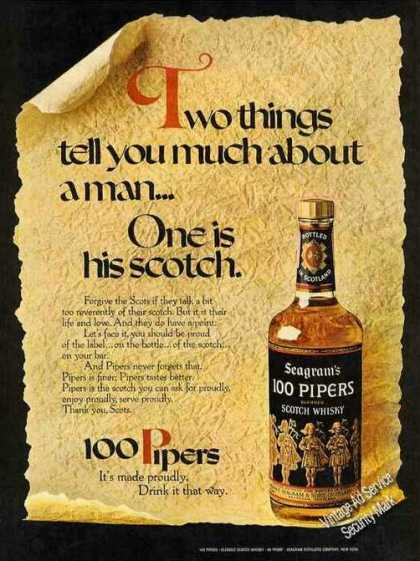 Two Things Tell You Much About a Man 100 Pipers (1971)