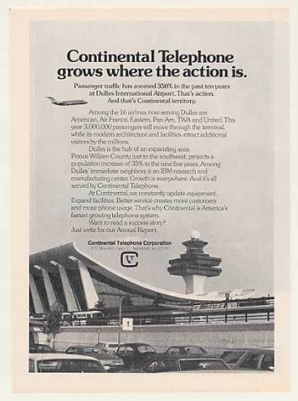 Continental Telephone Dulles Airport Photo (1973)