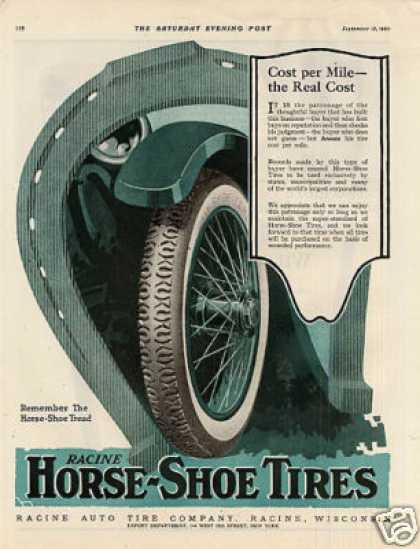 Racine Horse-shoe Tire Color (1920)