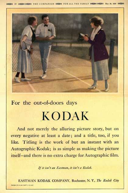 Kodak's Autographic cameras – For the out-of-doors days KODAK (1920)