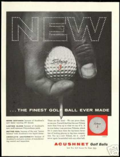 Titleist Acushnet Golf Ball Hand the Finest (1960)