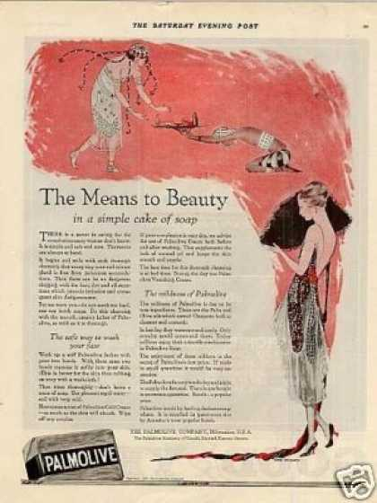 "Palmolive Soap Ad ""The Means To Beauty... (1920)"
