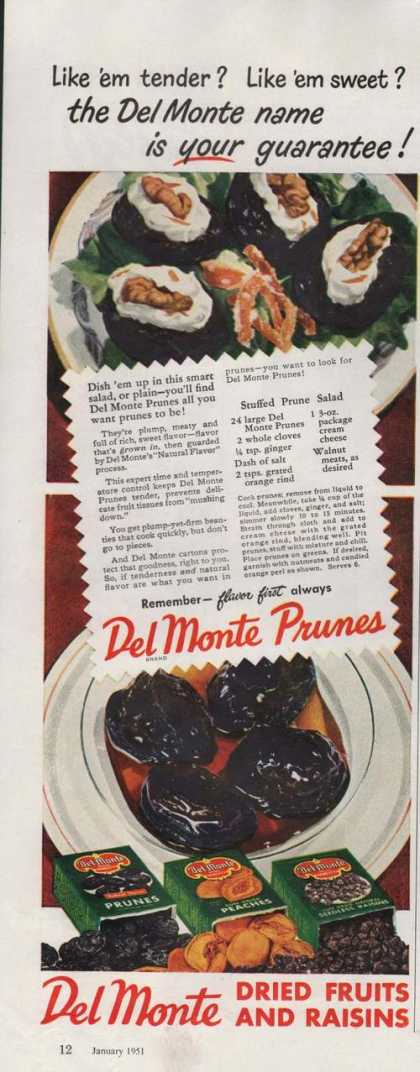 Del Monte Dried Fruits & Raisins Prunes (1951)