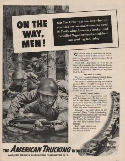 American Trucking Industry Military Print (1942)