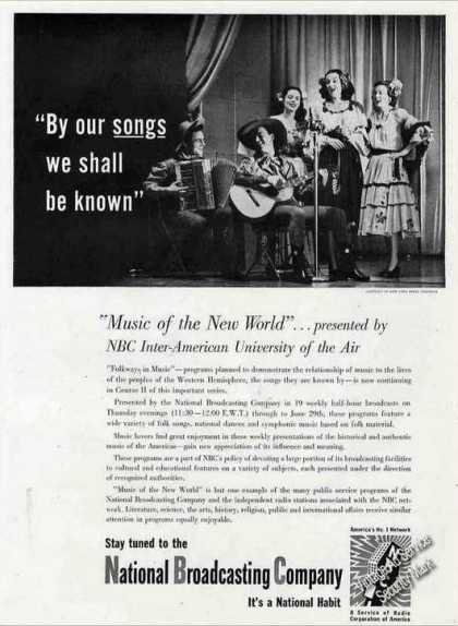 "Nbc ""Music of the New World"" Radio Broadcast (1944)"