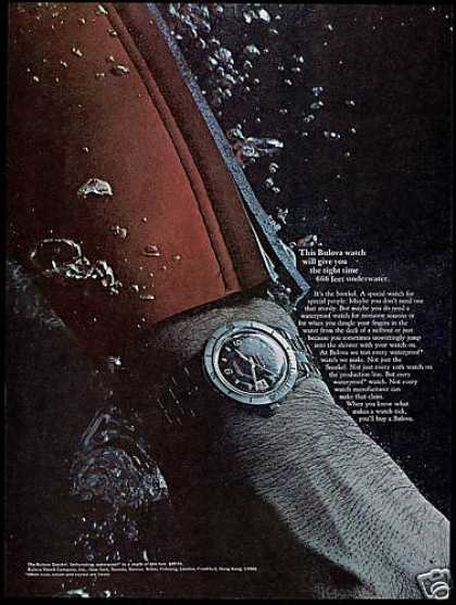 Scuba Diver Wetsuit Bulova Snorkel Watch Photo (1966)
