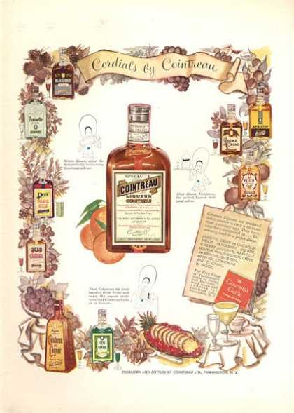 Cointreau Liqueur Bottles Descriptive (1952)