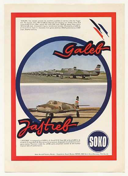 Soko Galeb Jastreb Military Aircraft Photo (1969)