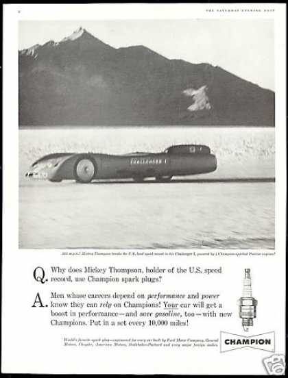 Champion Plugs Mickey Thompson Challenger I (1960)