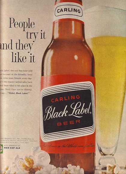 Carling's Black Label Beer (1961)