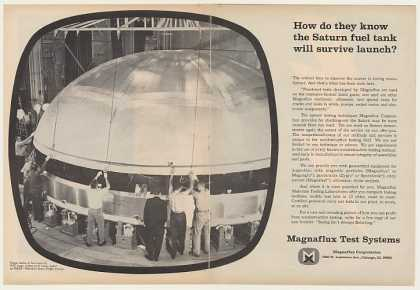 Magnaflux Saturn V Rocket Fuel Tank Dome Dbl-Pg (1964)
