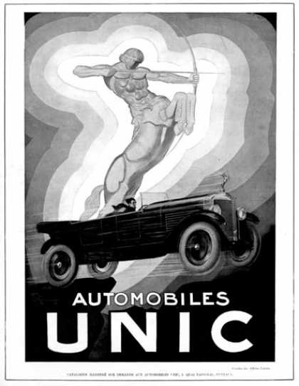 Unic Automobiles Art Deco (1928)