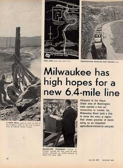 """""""Milw Has High Hopes for New 6.4 Mile Line""""Article (1967)"""