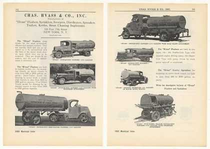 Chas Hvass & Co Flusher Sweeper Trucks 4-Page (1931)