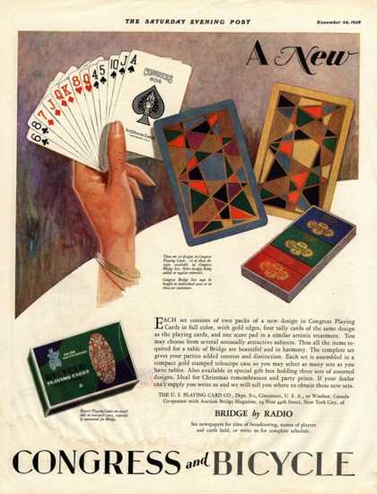 Playing Cards Games Congress, USA (1928)