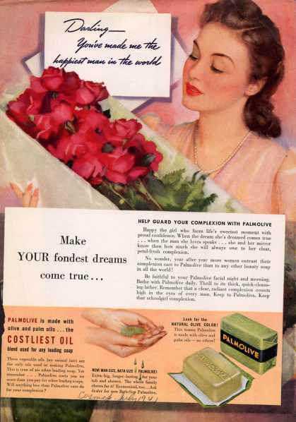 Palmolive Company's Palmolive Soap – Make Your fondest dreams come true... (1941)