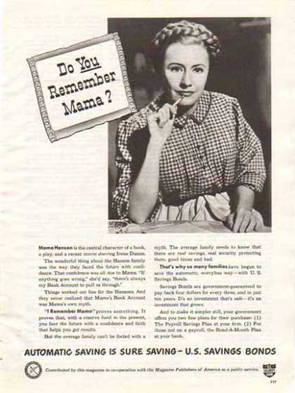 U.S. Savings Bond – Irene Dunn – I Remember Mama (1948)