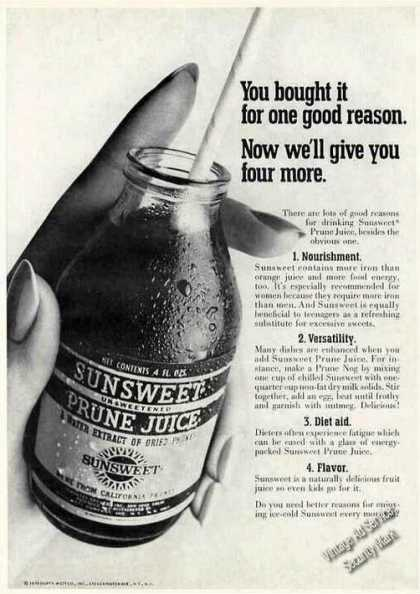 You Bought It for One Good Reason Prune Juice (1970)