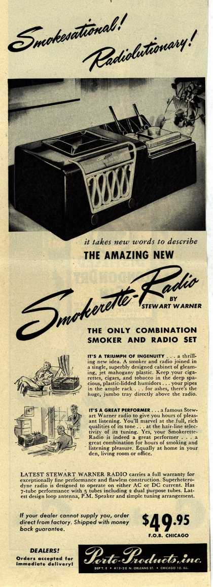 Porto-Production's Smokerette Radio – Smokesational! Radiolutionary (1947)