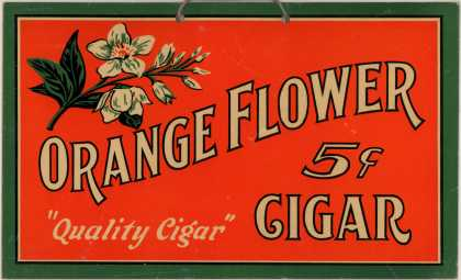 Orange Flower &#8211; Orange Flower Cigar