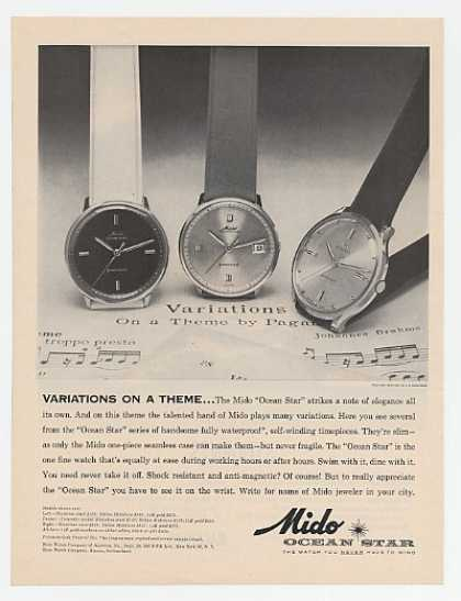 Mido Ocean Star Watch Watches (1963)