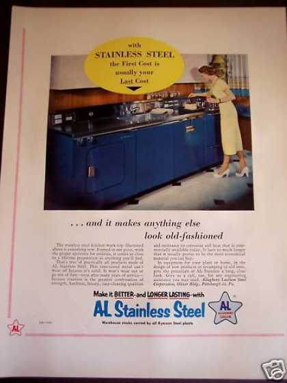 Allegheny Ludlum Stainless Steel Kitchen (1956)