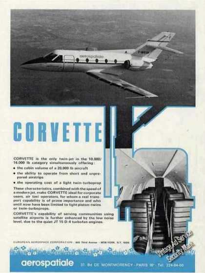 Aerospatiale Corvette Photos Paris France (1971)