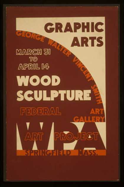 Graphic arts – wood sculpture, George Walter Vincent Smith Art Gallery, Springfield, Mass.. (1936)