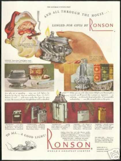 Ronson Cigarette Lighters Vintage (1947)