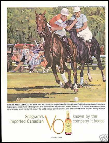 Polo Pony Players Oakbrook Seagram's VO Whisky (1959)